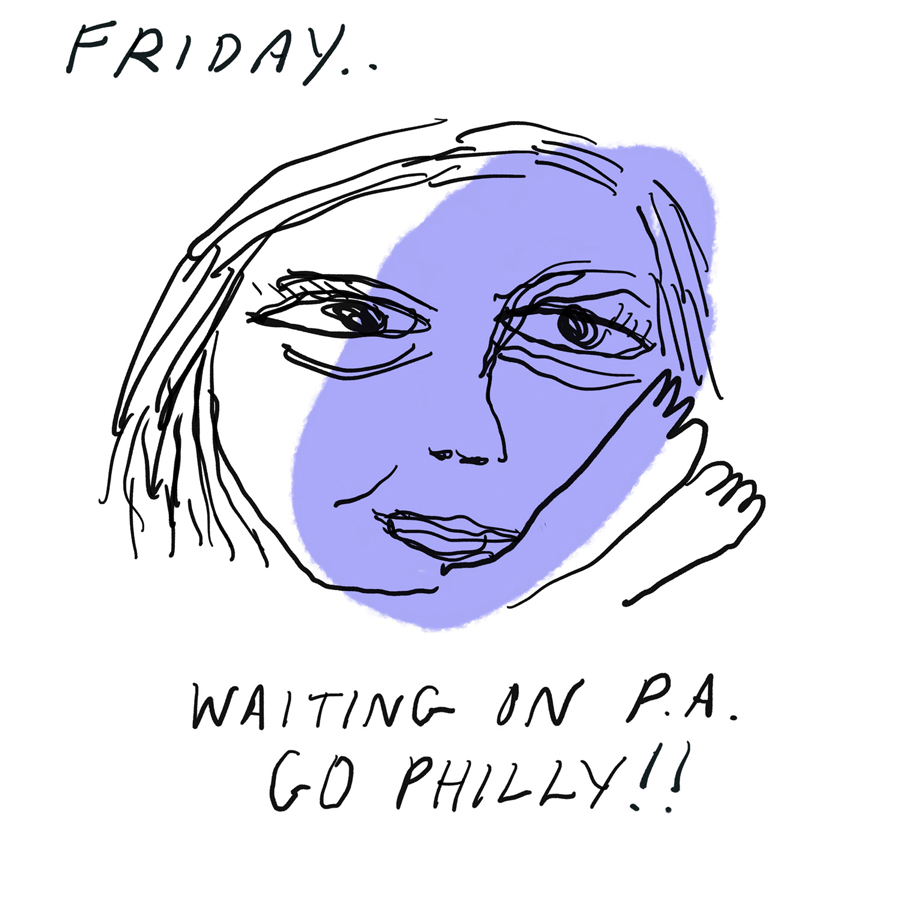 Waiting in PA--Go, Philly!