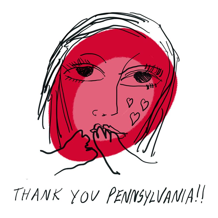Thank you, Pennsylvania!