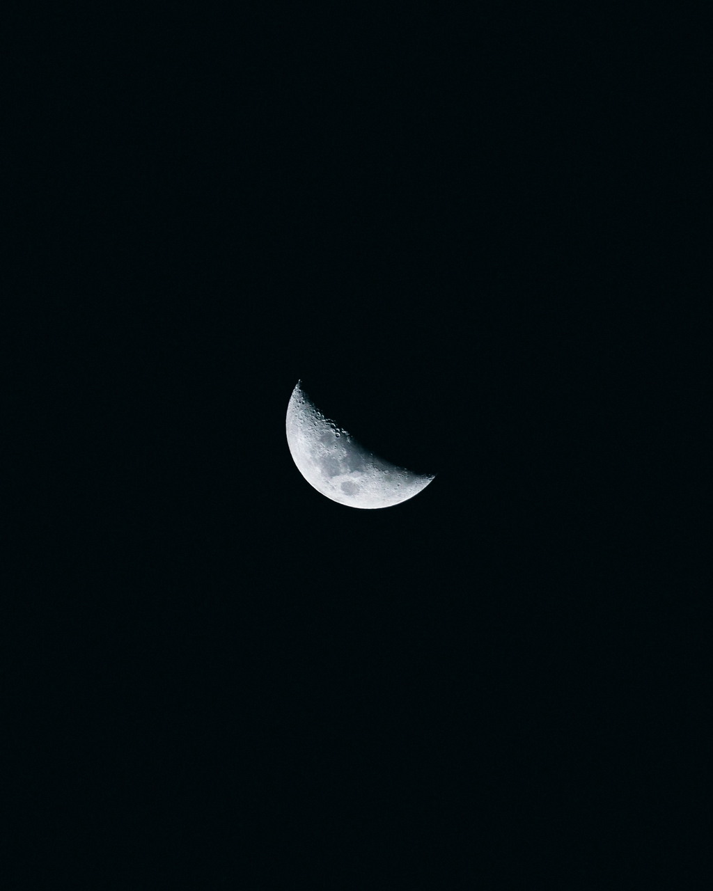 half moon against night sky